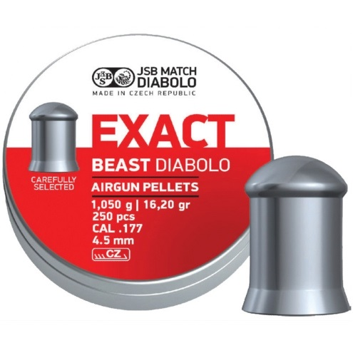 JSB Exact Beast Pellets 4.52mm .177 Calibre 16.20 grain Tin of 250 x 10 tins