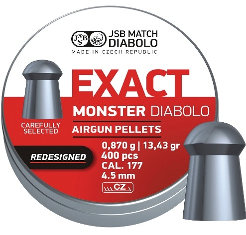 JSB Exact Monster Pellets 4.52mm .177 Calibre 13.43 grain Tin of 400 x 5 tins
