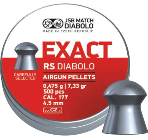 JSB Exact RS Pellets 4.52mm .177 Calibre 7.33 grain Tin of 500 x 5 tins