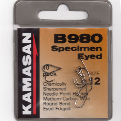 Kamasan B980 Barbed Specimen Eyed Hook Size 10