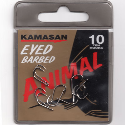 Kamasan Animal Eyed Barbed Hook Size 10
