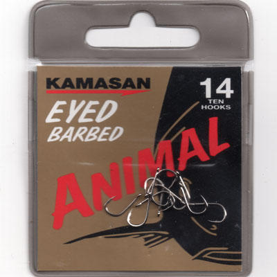Kamasan Animal Eyed Barbed Hook Size 14
