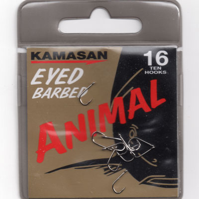 Kamasan Animal Eyed Barbed Hook Size 16