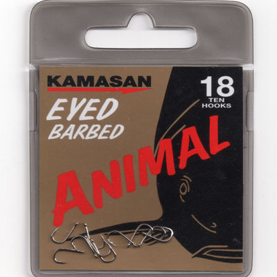 Kamasan Animal Eyed Barbed Hook Size 18