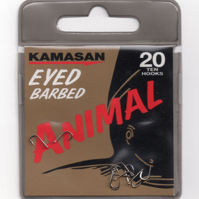 Kamasan Animal Eyed Barbed Hook Size 20