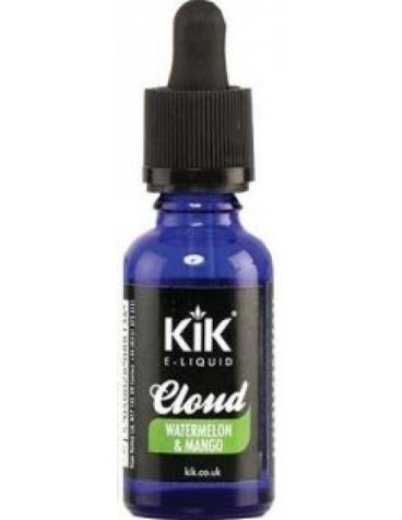 KIK CLOUD DRIPPER PREMIUM E LIQUID 80/20 VG/PG - WATERMELON & MANGO - 0mg - 30ml