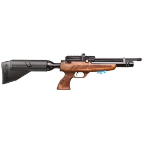 Kral Puncher NP-02 Black PCP PRE-CHARGED AIR RIFLE .22 calibre 12 shot and free hard case WALNUT STOCK