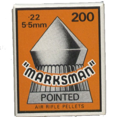 Marksman Pointed Box of 200 Air Rifle Pellets CALIBRE .22 x 10 boxes