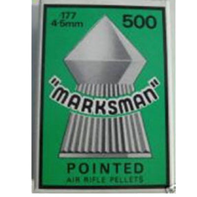 Marksman Pointed Box of 500 Air Rifle Pellets CALIBRE .177 x 10 boxes