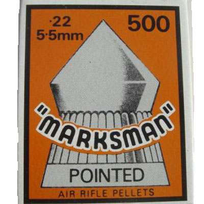 Marksman Pointed Box of 500 Air Rifle Pellets CALIBRE .22 x  5 boxes