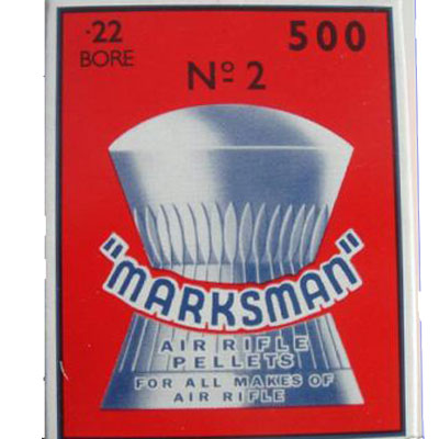 Marksman Round Head Box of 500 Air Rifle Pellets CALIBRE .22
