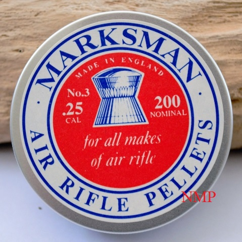 Marksman Pellets Round Head Air gun Pellets .25 calibre x 1 Tin of 200