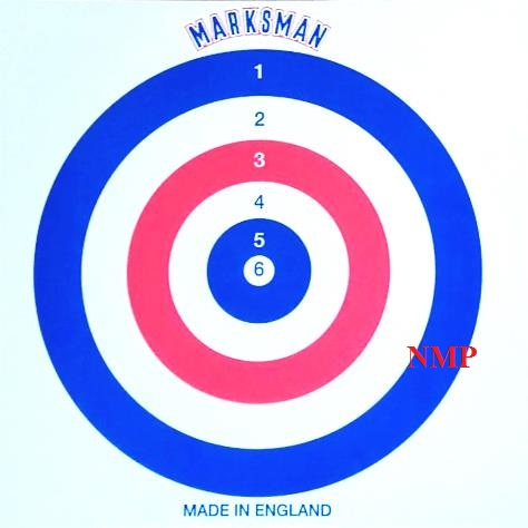 MARKSMAN ALL ROUNDER RED WHITE BLUE AIR GUN TARGETS Pack of 100 Card Targets 14cm