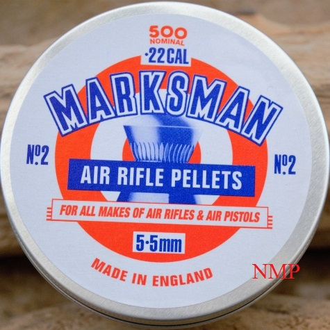 Marksman Round Head Air Rifle Pellets Tin of 500 CALIBRE .22