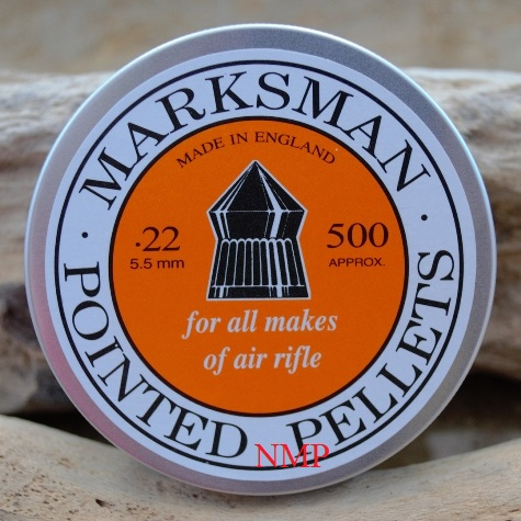 Marksman Pointed Air Rifle Pellets Tin of 500 CALIBRE .22 x 10 Tins