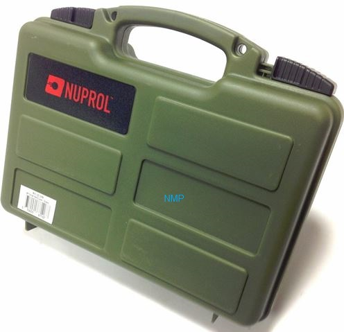 12 inch NUPROL Small Pistol Hard Case Green