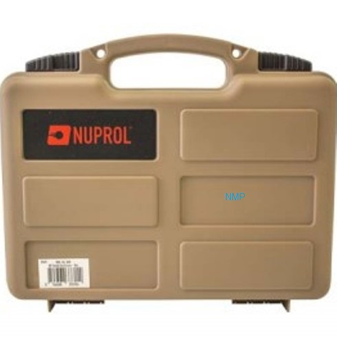 12 inch NUPROL Small Pistol Hard Case Tan