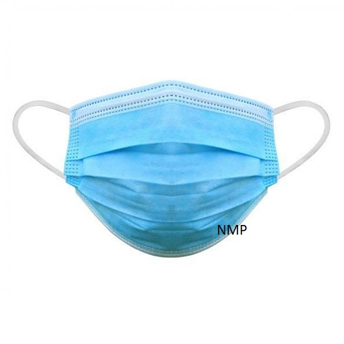 3 Ply Blue Disposable Face Mask with elastic ear loops Personal Protective Equipment (PPE) each mask