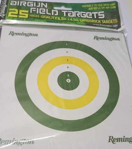 REMINGTON ALL ROUNDER AIR GUN TARGETS Pack of 25 Card Targets 17cm x 10 Packs