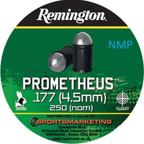 Remington PROMETHEUS Air Gun Pellets .177 calibre tin of 250 6.5gr x 5 tins