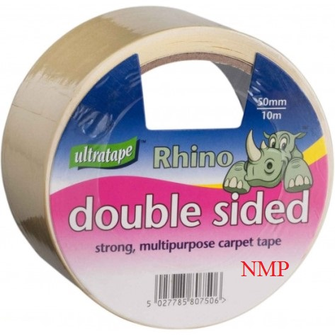 RHINO CARPET TAPE STRONG MULTIPURPOSE DOUBLE SIDED (50MM X 10M)
