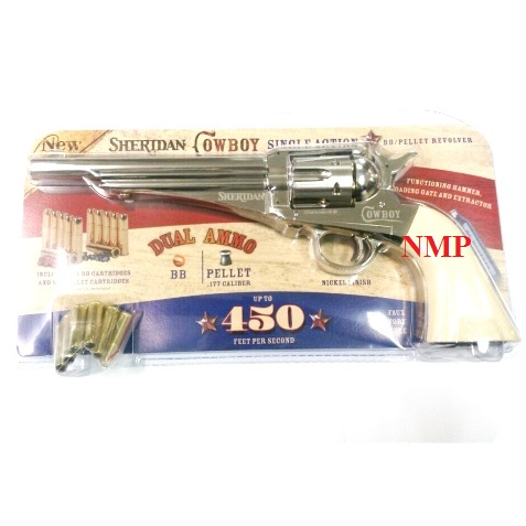 Crosman sheridan Cowboy 1875 12g co2 6 shot Air Pistol 4.5mm pellet or BB