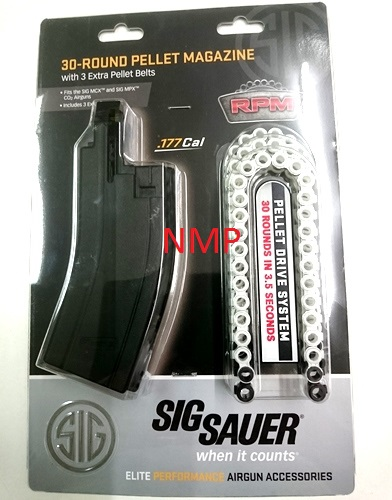 30 Round .177 MPX, MCX co2 Spare Magazine with 3 x 30 shot pellet belts by Sig Sauer