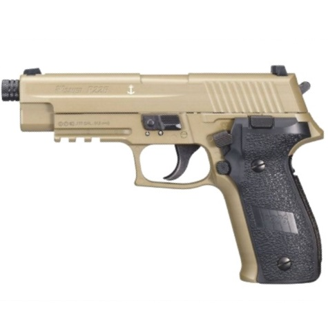 Sig Sauer P226 FDE 12g co2 Air Pistol .177 Full Metal Blowback ( 16 shot pellet )