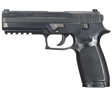 Sig Sauer P250 Black 12g co2 Air Pistol .177 Polymer Blowback ( 16 shot pellet ) (sold as spares or repairs, collected from store and paid in cash) Ex Demo