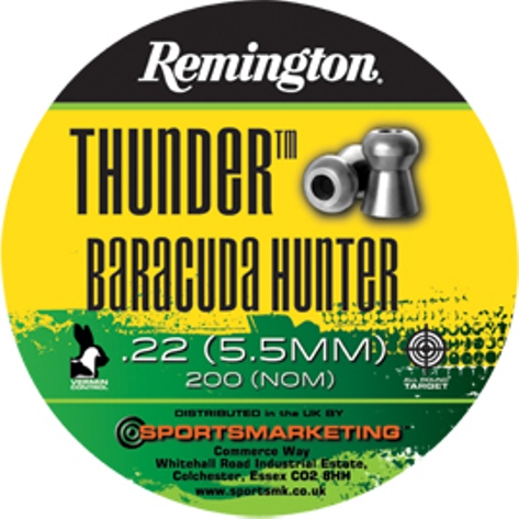 Remington Thunder BARACUDA HUNTER ( same as H&N Baracuda Hunter ) .22 calibre 18.21 gr Tin of 200 x 5 tins