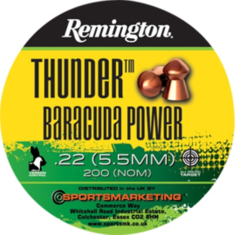 Remington Thunder BARACUDA Power ( same as H&N Baracuda Power ) .22 calibre 21.14 gr Tin of 200 x 5 tins
