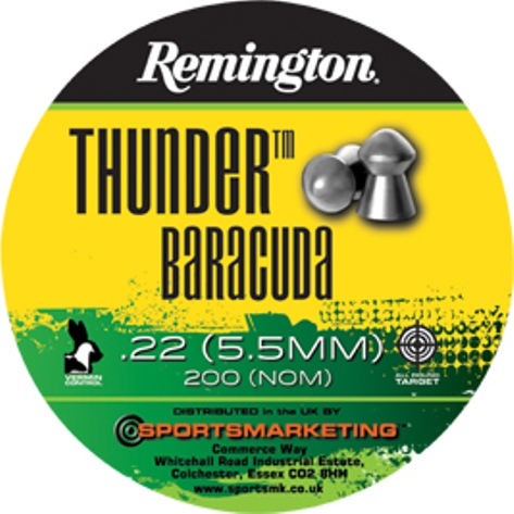Remington Thunder BARACUDA ( same as H&N Baracuda ) .22 calibre 21.14 gr Tin of 200 x 5 tins
