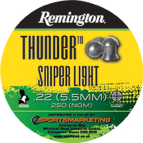 Remington Thunder SNIPER LIGHT ( same as H&N Sniper Light ) .22 calibre 14 gr Tin of 250 x 5 tins