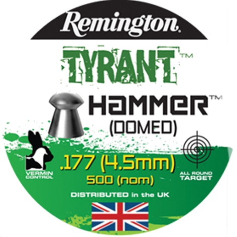 Remington TYRANT Hammer DOME SHAPED PELLETS .177 CALIBRE 7.6GR x 10 Tins