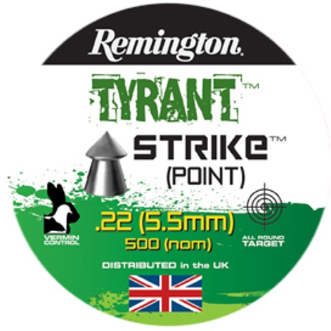 Remington TYRANT STRIKE POINTED PELLETS .22 CALIBRE 14.1gr x 10 Tins