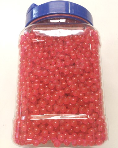 0.12g Ultrasonic 6mm Airsoft BB's Pink Polished Pellets in Tub of 5,000 with handle