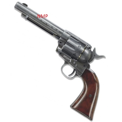 Colt SAA.45 Peacemaker Single Action Army .177 12g co2 air pistol (6 shot 4.5mm steel BB)- Antique Umarex