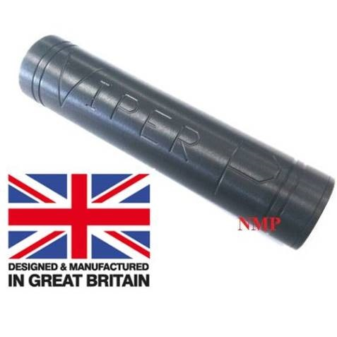 1/2 inch UNF Thread ( VIPER P Black Slim) Pistol sound moderator Flat (Bull Barrel) (unproofed) ( Made in UK )
