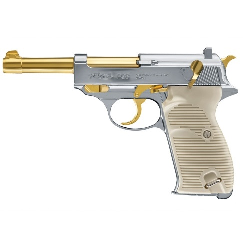 Walther P38 Gold and Nickel 12g Co2 Air Pistol 4.5mm bb 20 shot Umarex