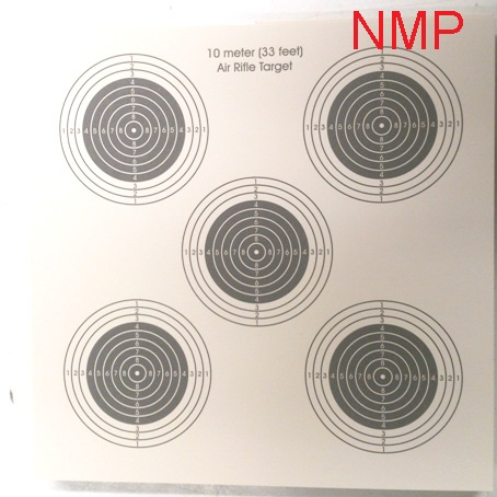 Webley cream 25ft AIR GUN TARGETS (5 Bull's eyes targets) Pack of 50 Card Targets ( 14cm )
