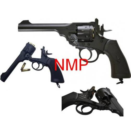 6MM AIRSOFT 12g co2 Air Pistol Webley MKVI Service Revolver Black ( 6mm BB .455) kit with pistol bag, 12gram co2 and some 6mm bb's