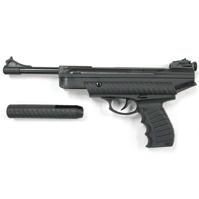 Webley Typhoon semi recoilless spring powered air pistol availible in .177 calibre