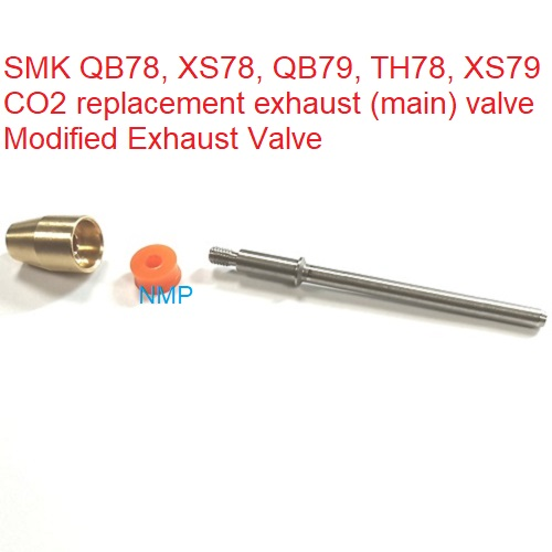 SMK QB78, XS78, QB79, TH78, XS79 CO2 replacement exhaust (main) valve Modified Exhaust Valve