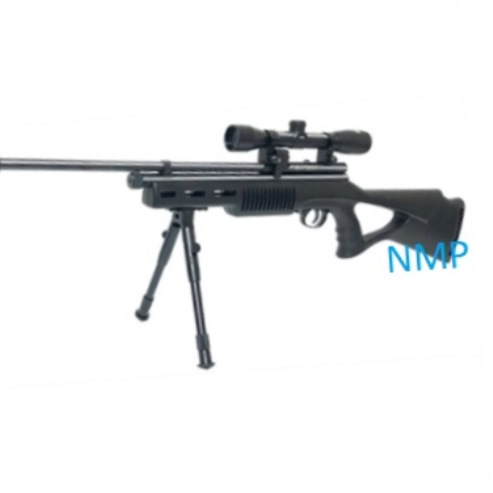 SMK SYN Blackout Tactical Multi shot 12g co2 Powered Sniper Air Rifle .22 calibre air gun pellet