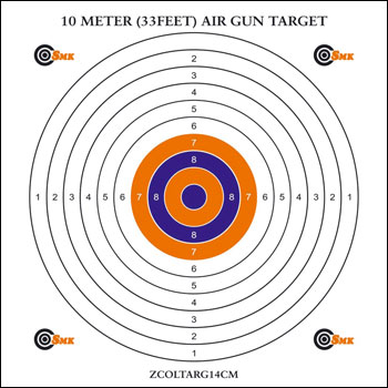 SMK 10m (33ft) AIR GUN TARGETS Pack of 100 Card Targets 14cm
