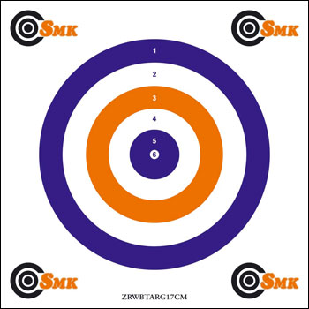 SMK ALL ROUNDER RED-WHITE-BLUE AIR GUN TARGETS  Pack of 100 Card Targets 17cm